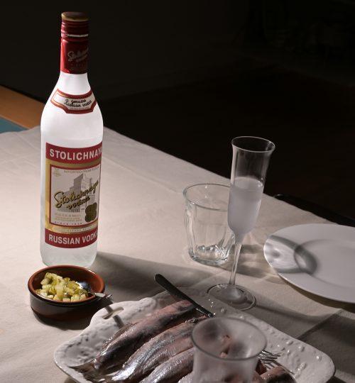 Vodka-Haring-Tasting
